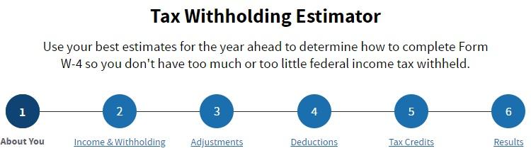 Withholding Tax - IRS Estimator