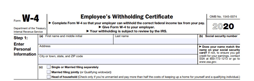 Withholding tax - the new W4